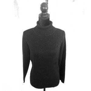 Ladies Turtleneck Sweater Black